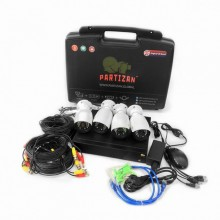 PARTIZAN Outdoor Kit 1MP 4xAHD
